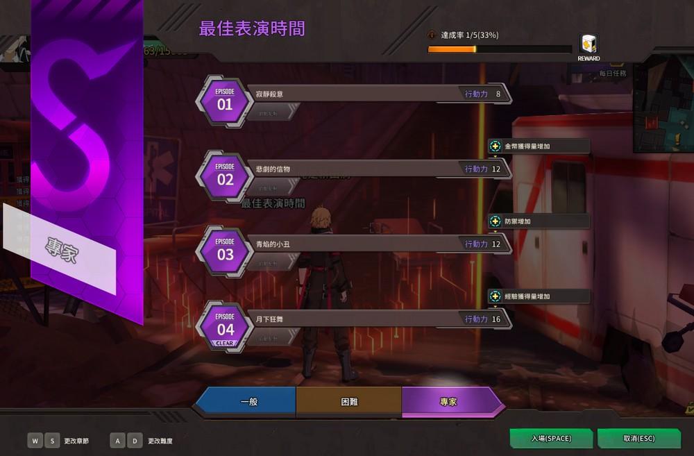 ★《靈魂行者Online》遊戲場景「諾克小鎮」中的副本「最佳的表演時間」總共有4個關卡
